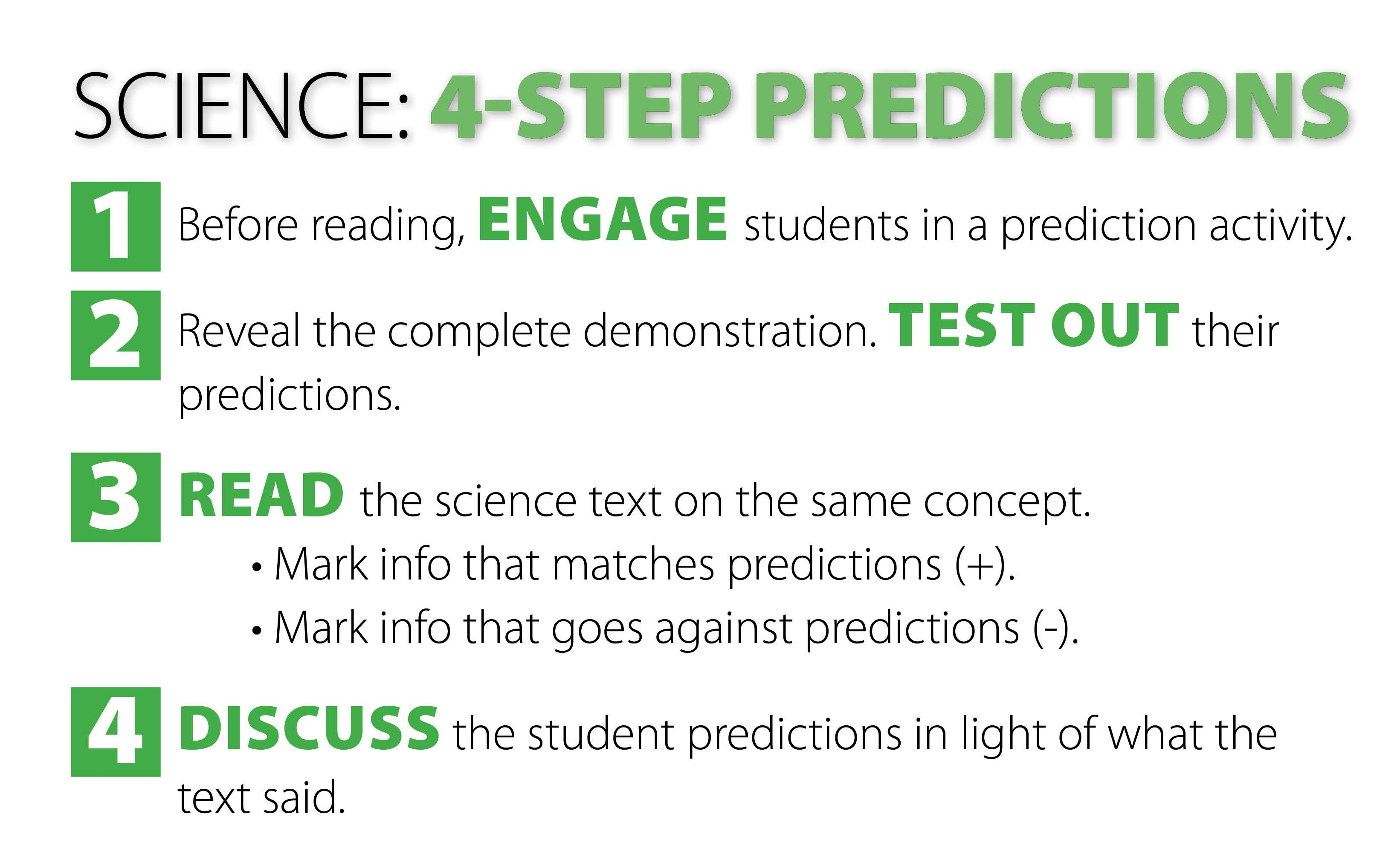 4-Step Predictions in Science