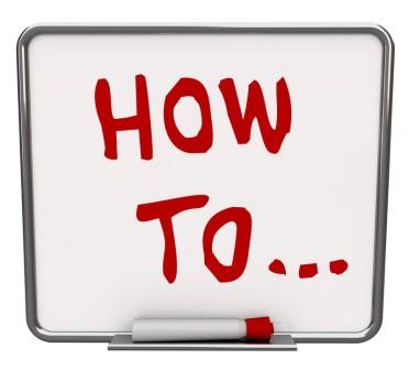 Use How-To Writing