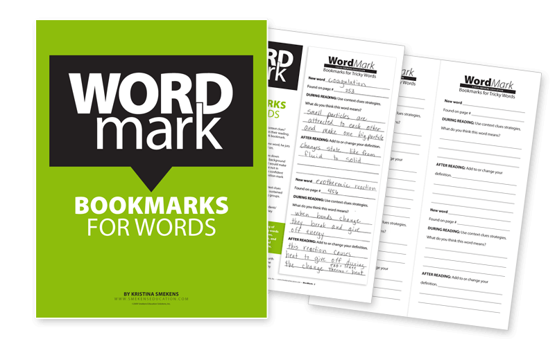 Word Mark Bookmarks for words