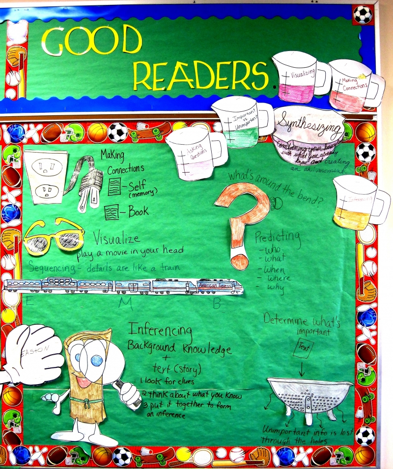 Smekens Education reading comprehension bulletin board