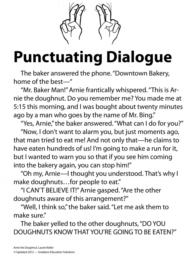 Punctuating Dialogue Practice Sheet