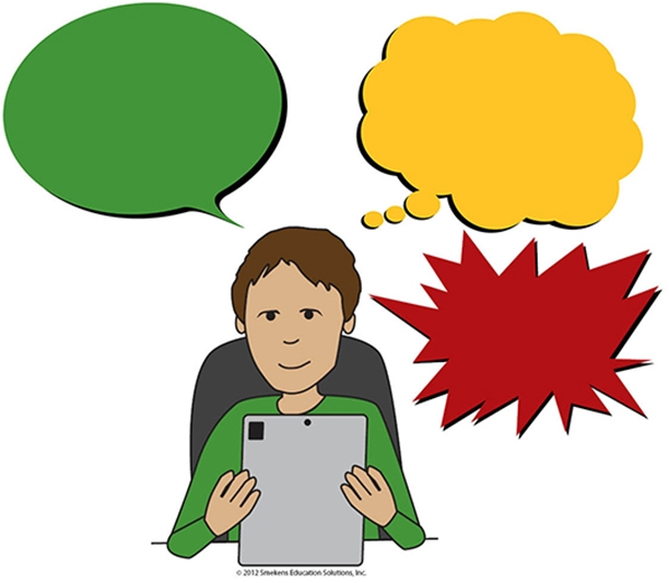 Reading Voice, Thinking Voice, Distracting Voice - Icons without Words - Version 1