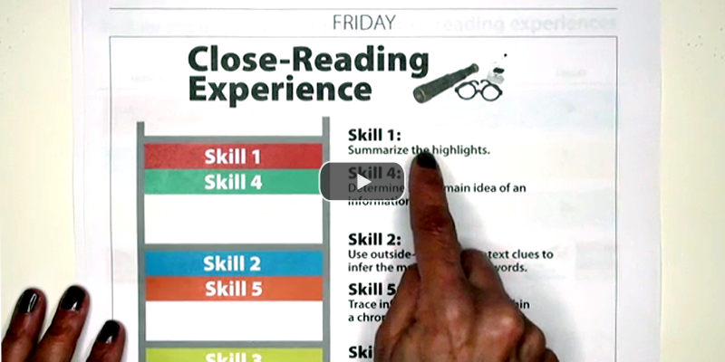 Follow Explicit Instruction with Close-Reading Experiences