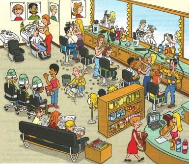 Barbershop image for Student Writing Activity