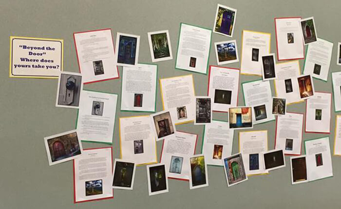 Spark writers with images--Door Project Barb Mahnesmith