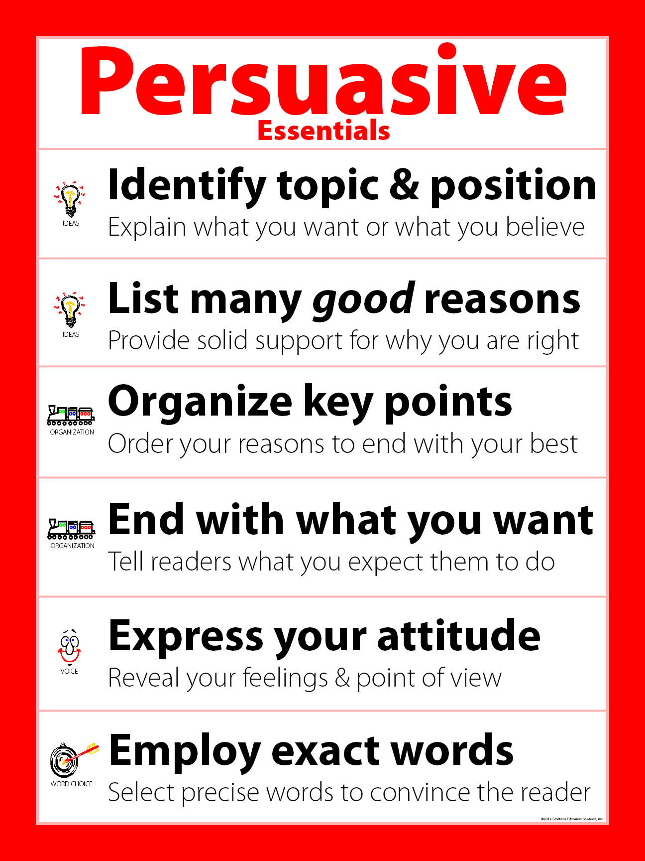 Smekens Education Original Genre Essentials Persuasive poster