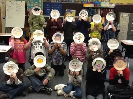 Paper Plate Portraits of the Test Lady