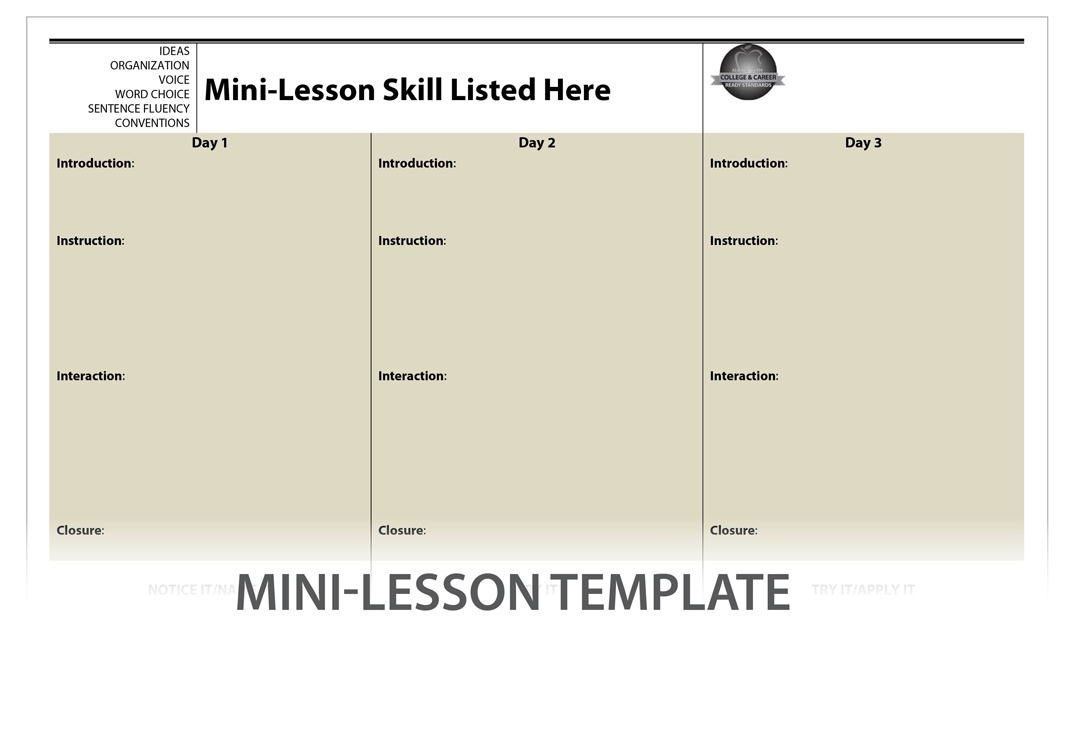 Mini-Lesson Series Planning Template