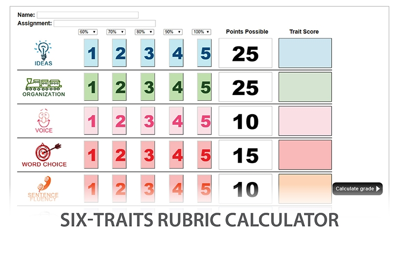 Smekens Education Rubric Calculator