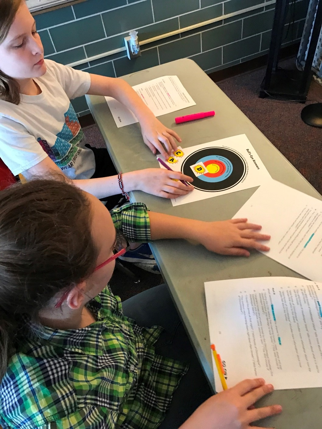 Students practice Bullseye Answer strategy
