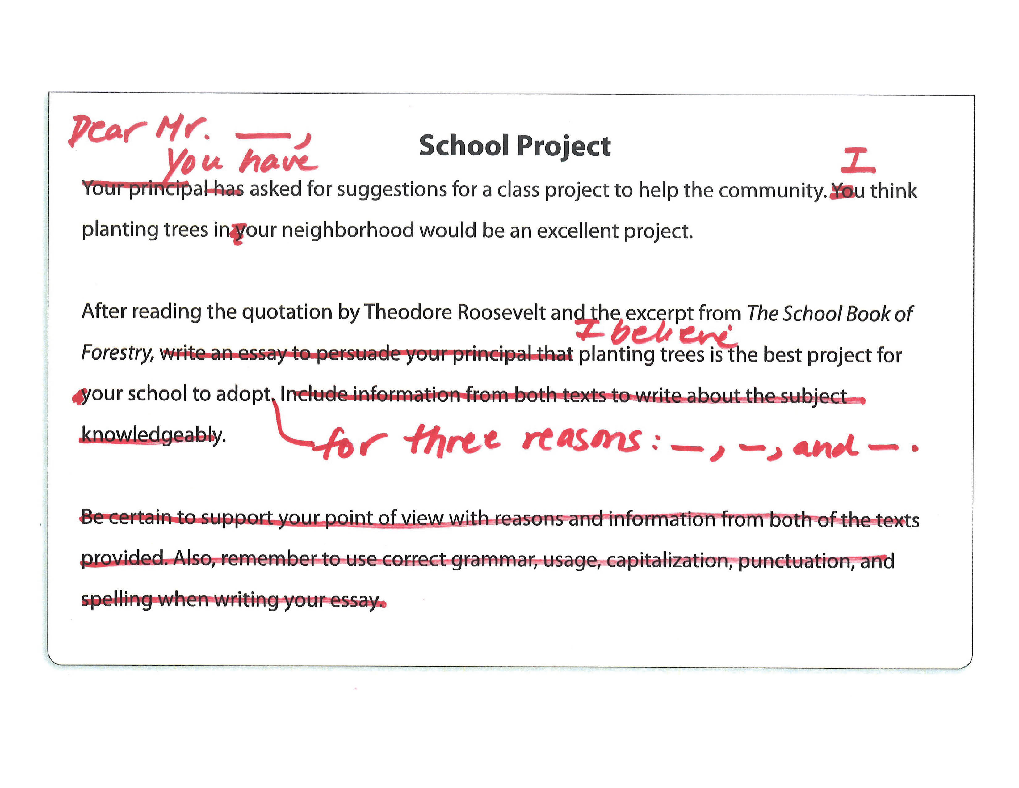 Rework The Prompt To Serve As An Introduction Sample Prompt School Project Sample Prompt Annotated School Project