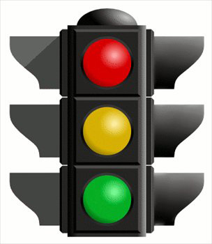 Traffic light for reading and thinking