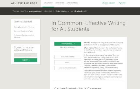 Achieve the Core Page