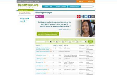 ReadWorks.org Page