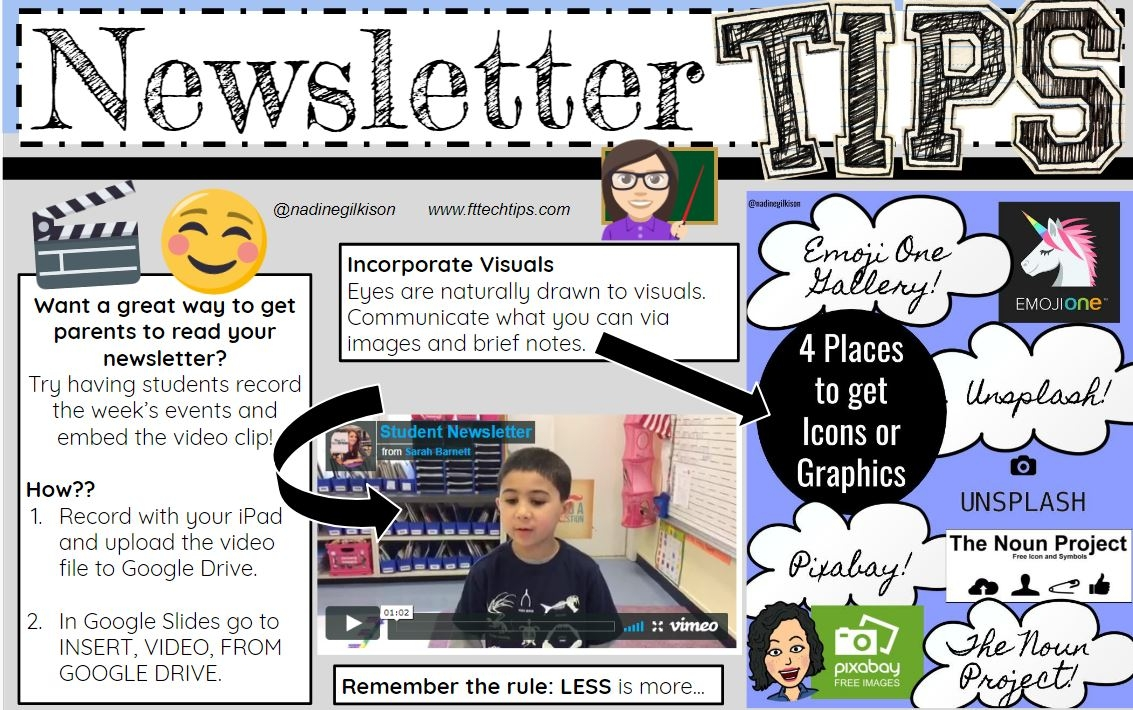Teacher newsletter tips