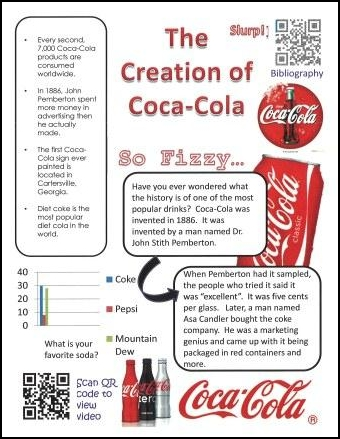 Using QR Codes Coca-Cola mini-poster student sample