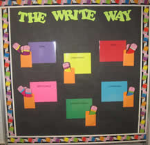 6 Traits of Writing--The Write Way bulletin board