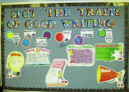 6 Traits of Writing-- Spot the Traits of Good Writing bulletin board