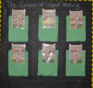 6 Traits of Writing--Campus of Good Writing bulletin board