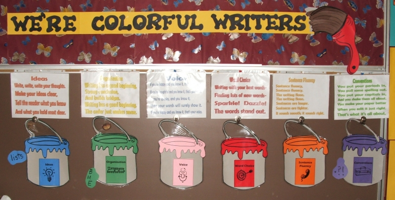 Mary Menze's We're Colorful Writers Board
