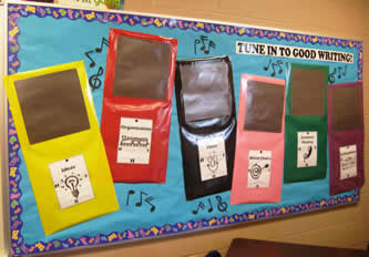 6 Traits of Writing--Tune into Good Writing bulletin board