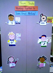 6 Traits of Writing--Team Traits bulletin board