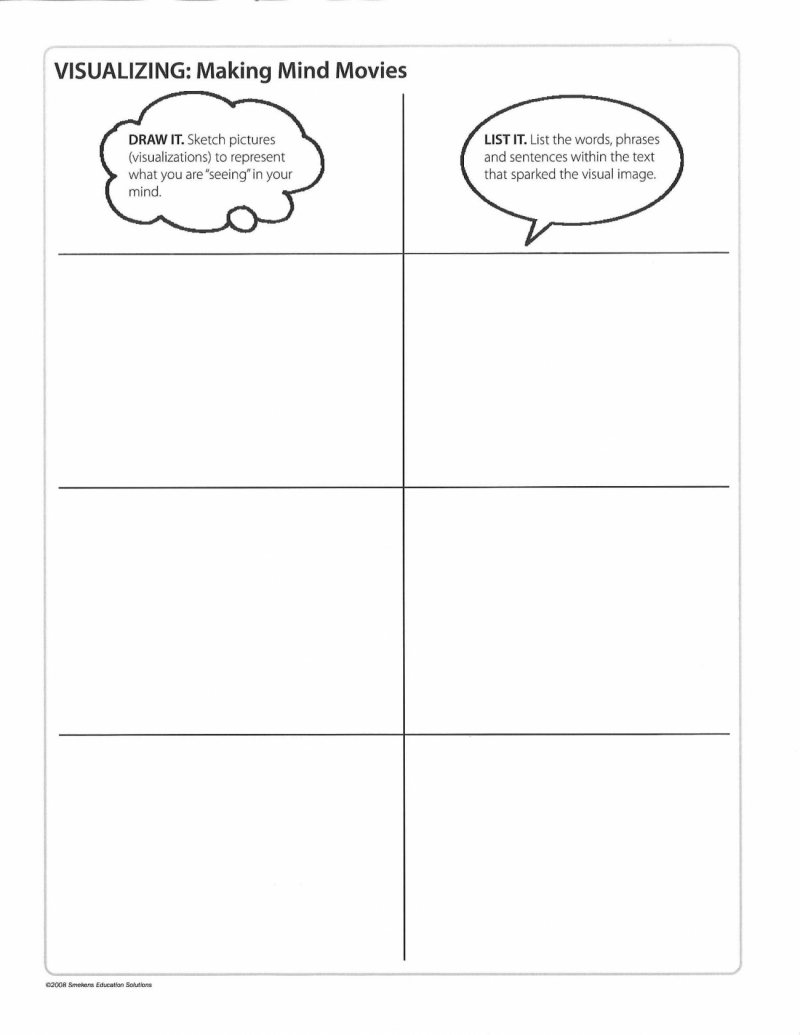 FREE Downloadable Student Handout T-Chart