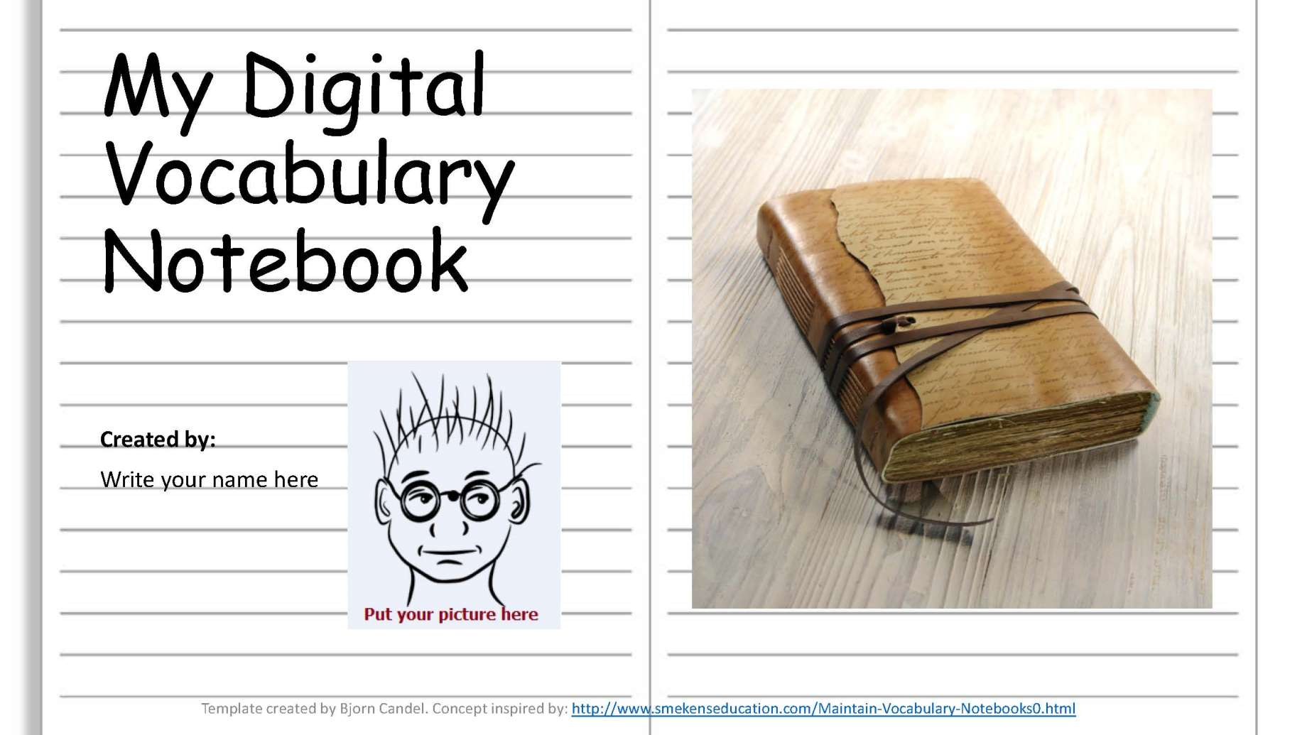 My Digital Vocab Notebook PPT