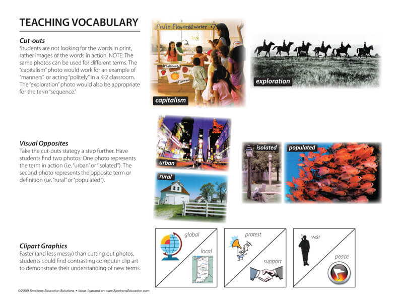 Teaching Vocabulary handout