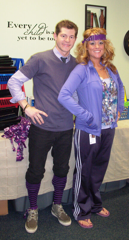 Melanie Beaver & Josh Sluder on Purple Word Day