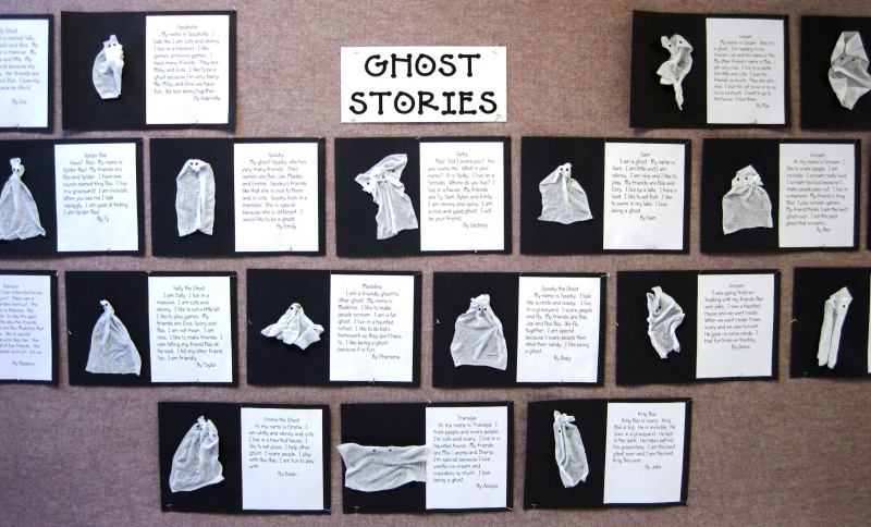 Homan Elementary first grade teacher Melody Wolff (Schererville, IN) Ghost Stories
