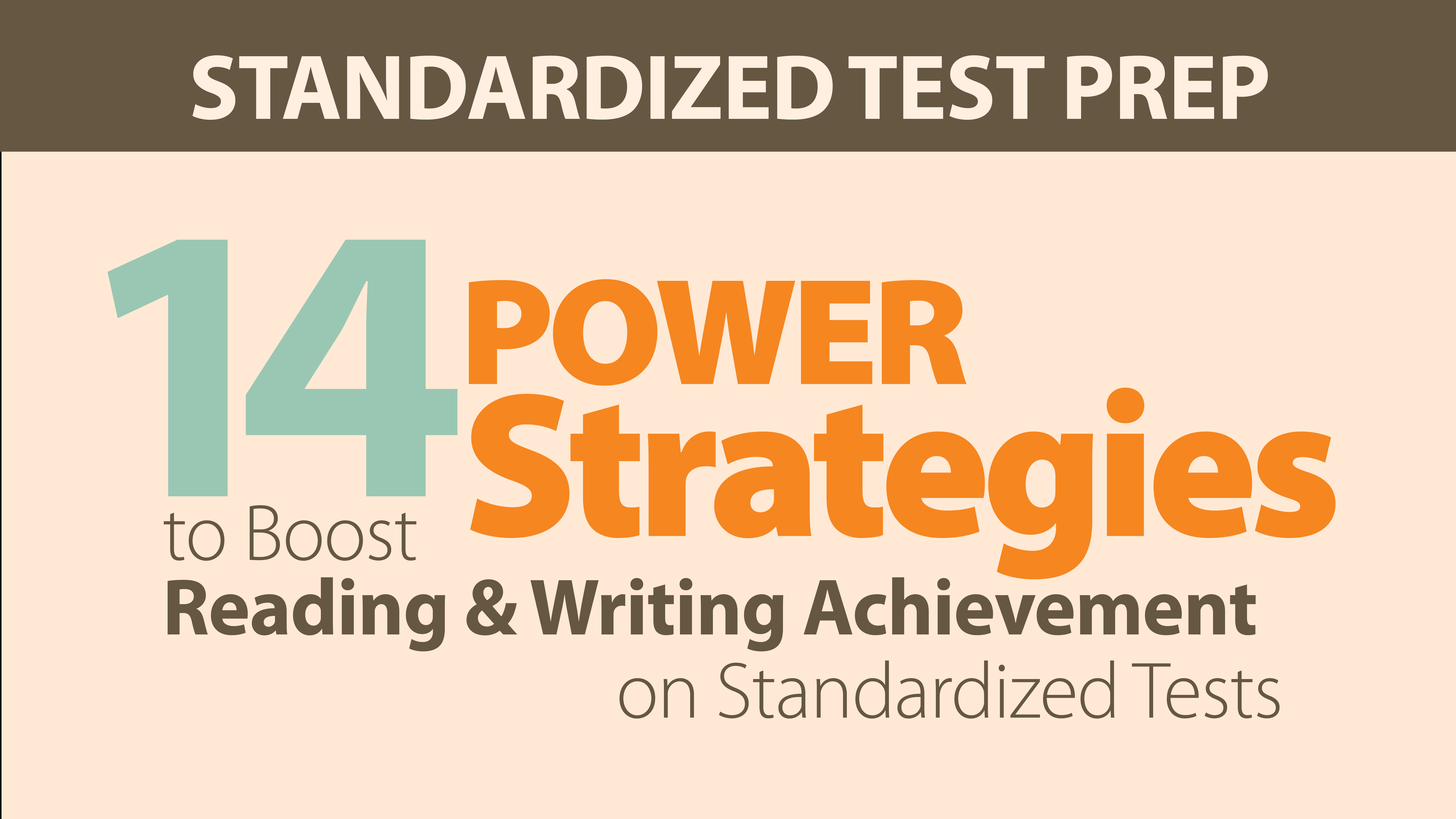 14 Power Strategies to Boost Reading & Writing Achievement on Standardized Tests Online Course with webAcademy by Smekens Education