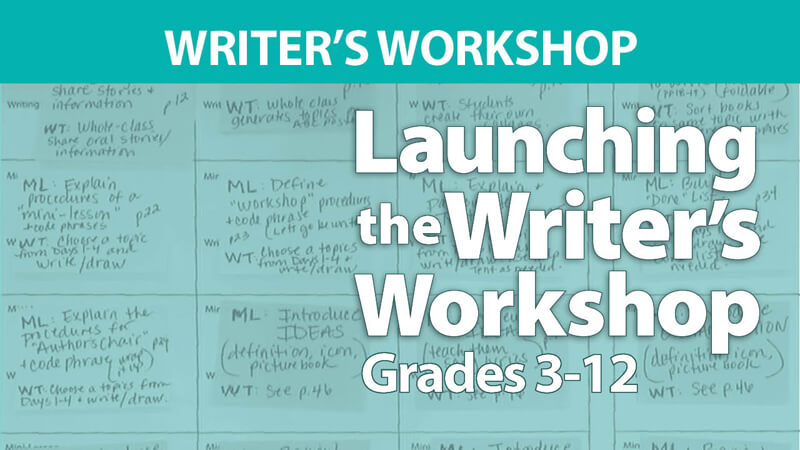 Smekens Education webAcademy Launching Writer's Workshop Grades 3-12