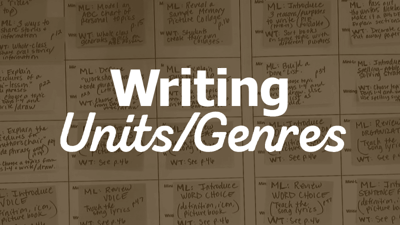 Writing Units/Genres