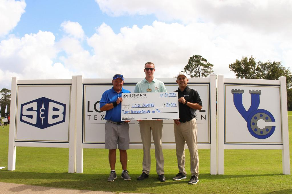 All proceeds of todays Pro-Am went to local charities within Mont Belvieu and PGA Reach Southern Texas.