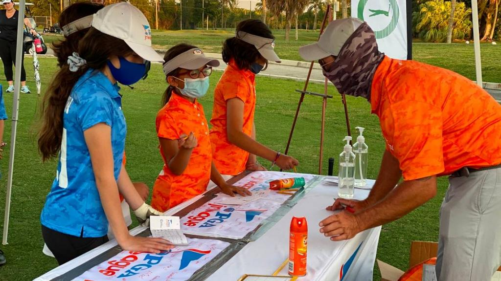 First-time golfers — kids ages seven to 16 — are getting a free introduction to the sport