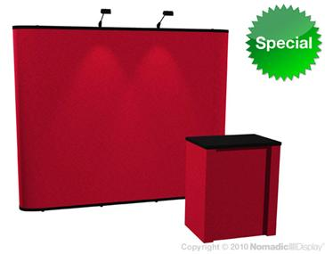 Gateway 8x10 Fabric Display w/ Lights and Counter
