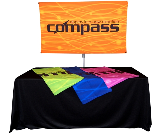 Telescoping Banner Stand