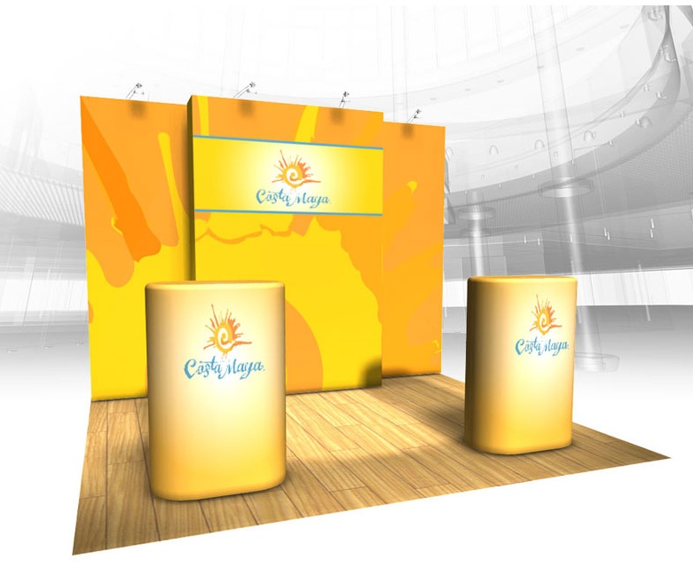 Burst Tension Fabric PopUp Displays