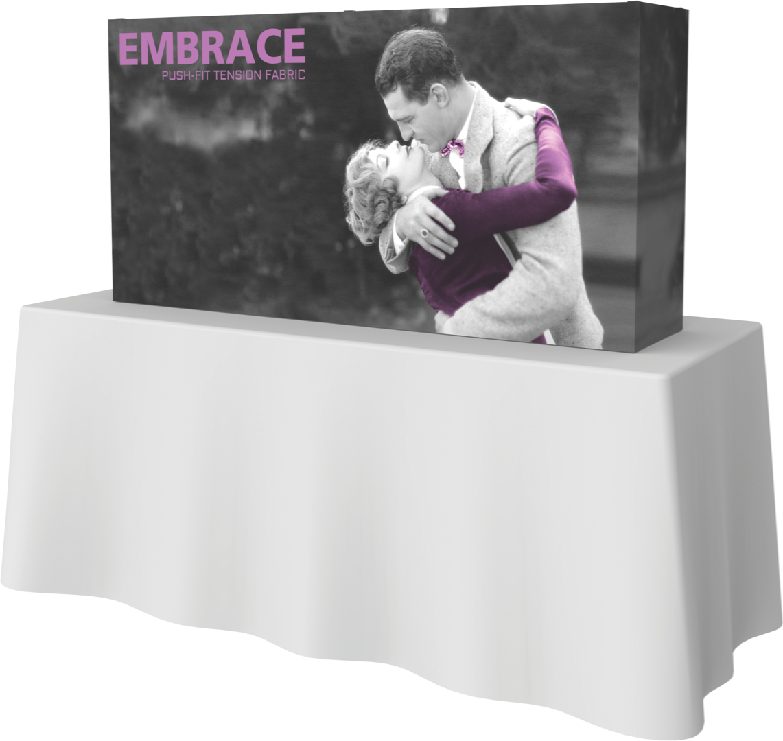 Embrace 2x1 front graphic with endcaps