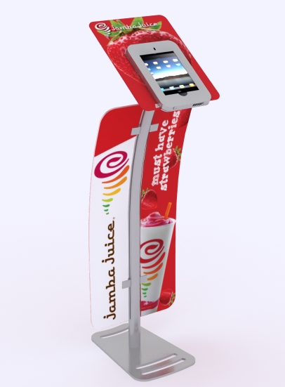 MOD-1333 iPad Kiosk with graphics
