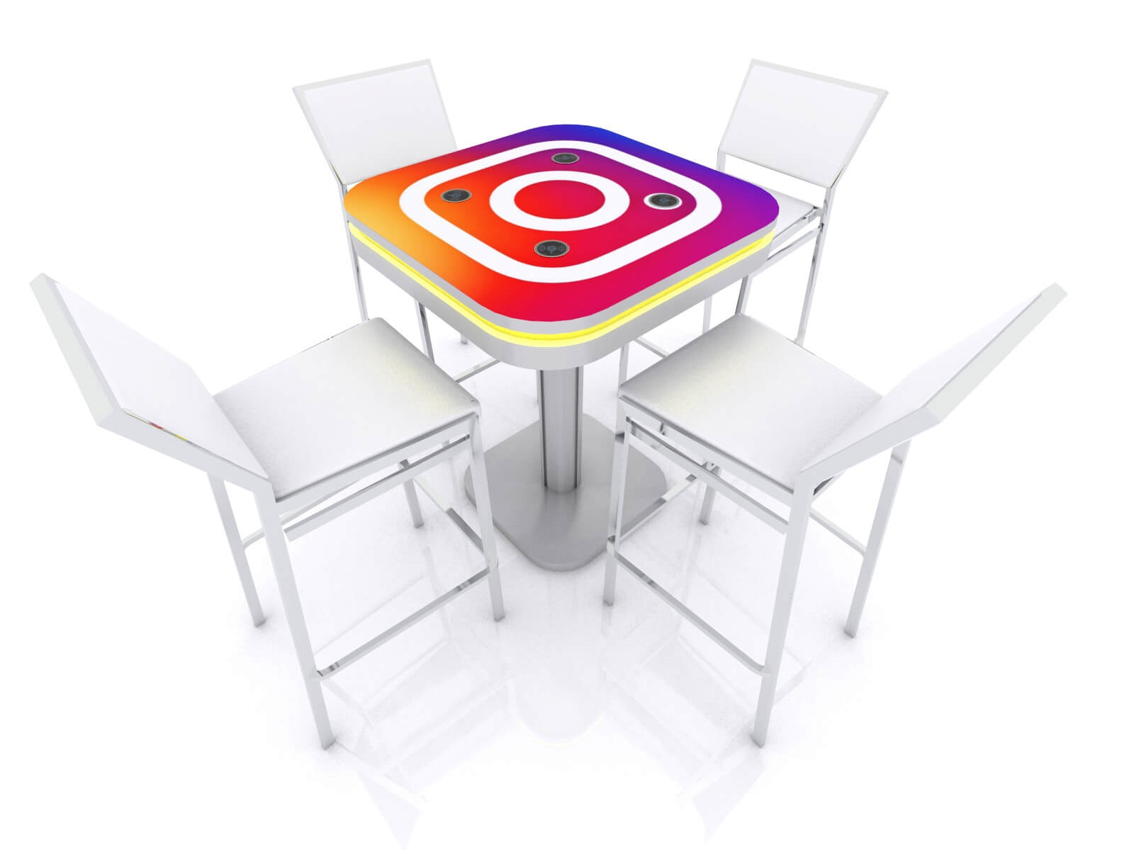 MOD-1458 Wireless Charging Bistro Table