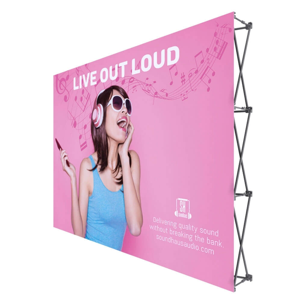ONE CHOICE - 10 Ft. Fabric Pop Up Display