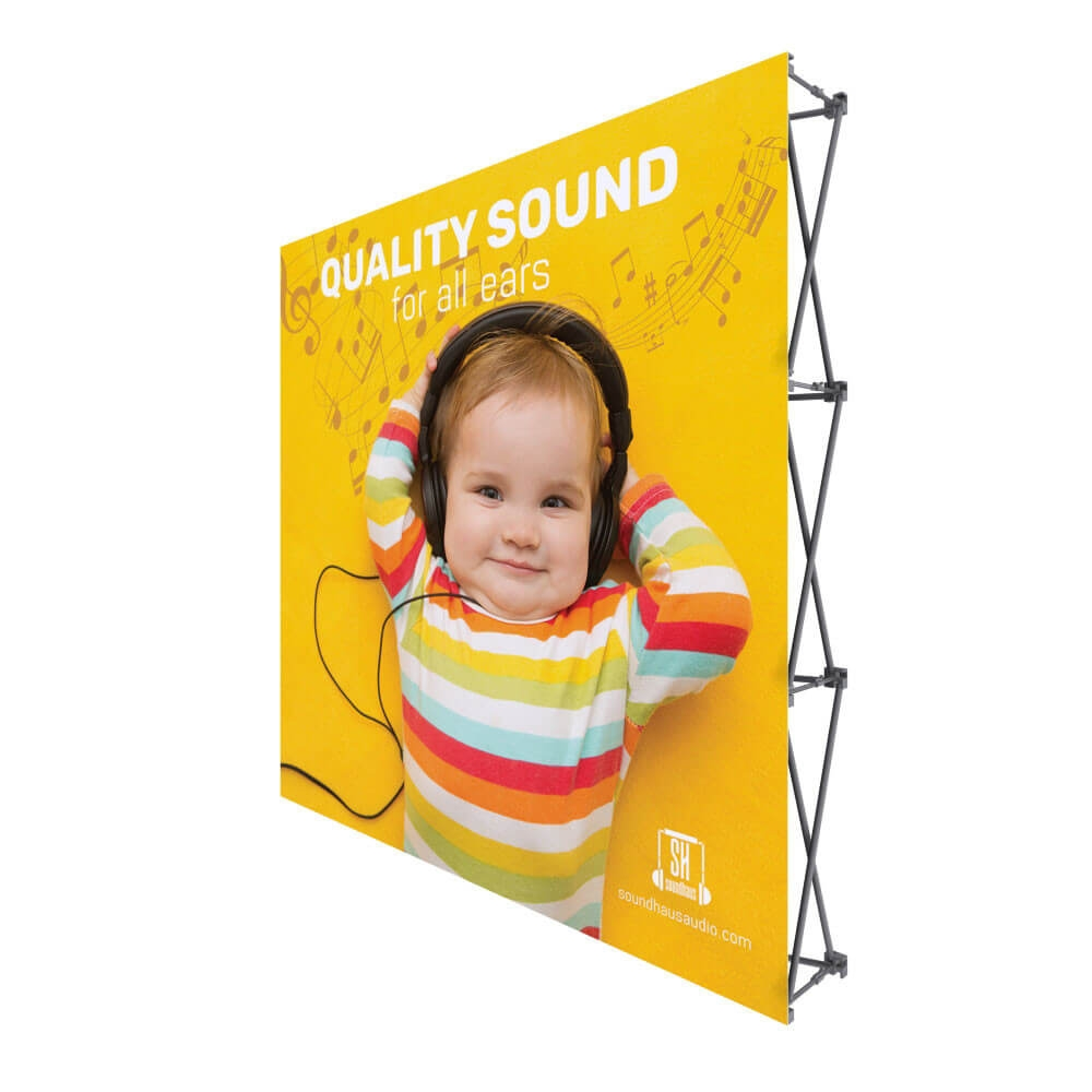 ONE CHOICE - 8 Ft. Fabric Pop Up Display