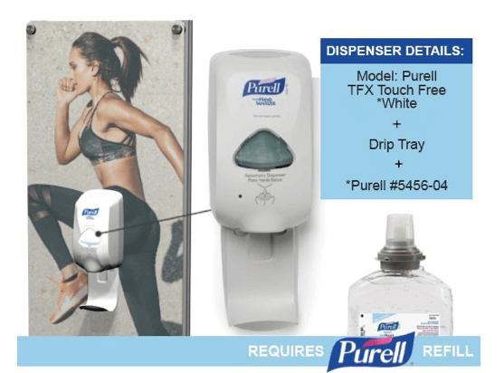 Purell touchless sanitizer dispenser