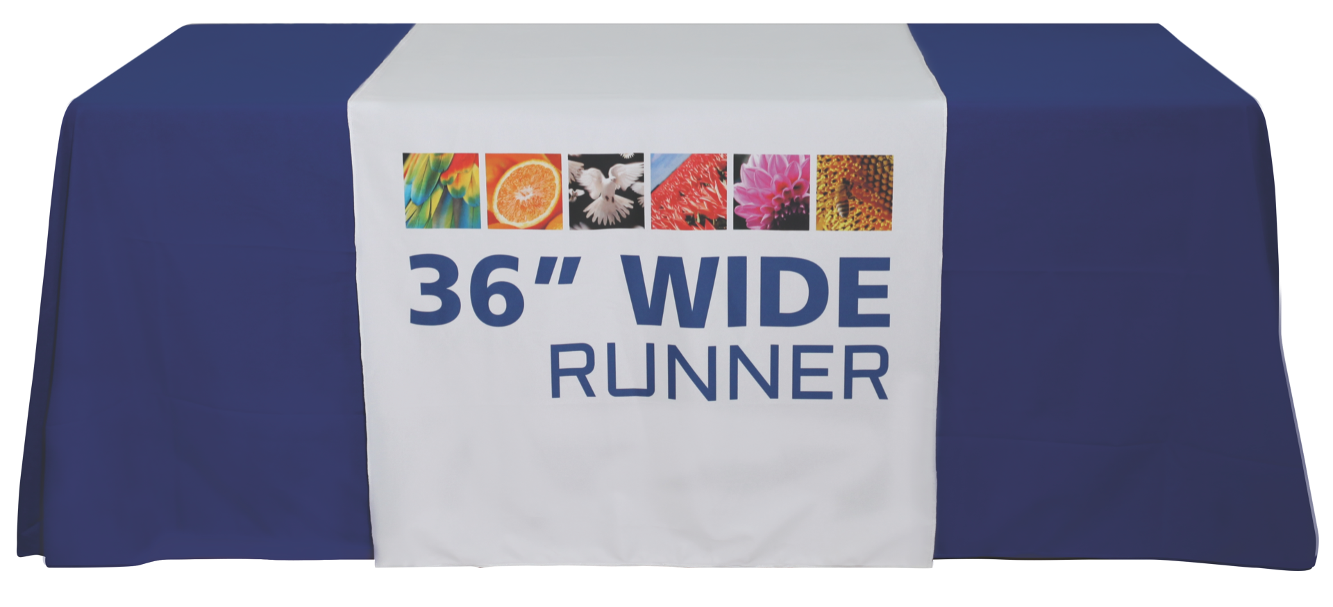 "Premium Dye Sub 36"" Table Runner Full"