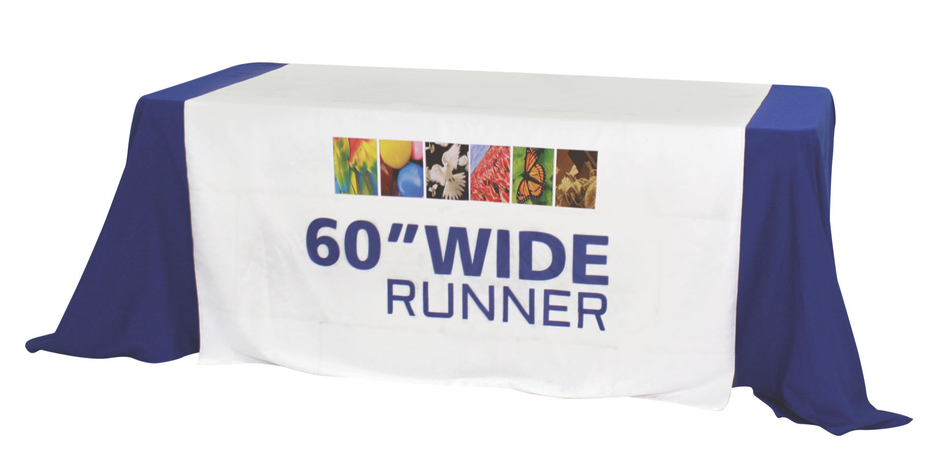 "Premium Dye Sub 60"" Table Runner Full"