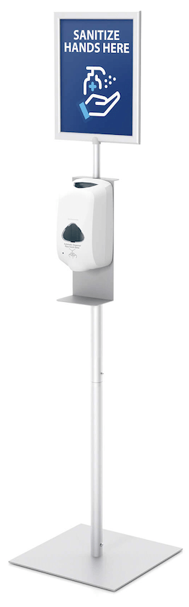 TKD Touchless Sanitizer Stand With Sign Frame