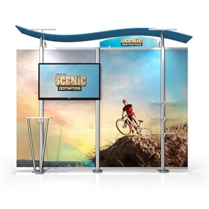 10ft Timberline Modular Display w/monitor mount
