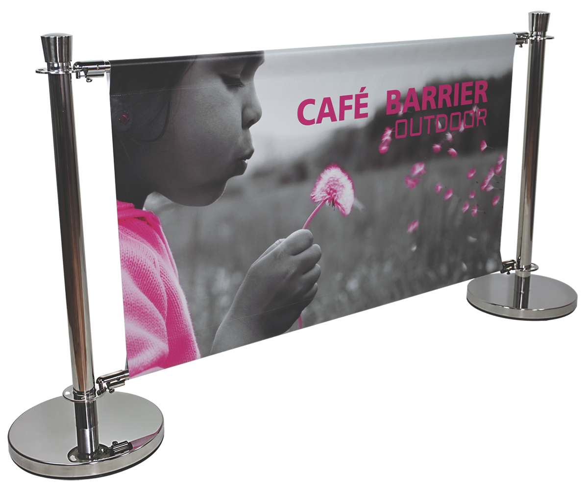 CAFE BARRIER 5FT X 3FT INDOOR-OUTDOOR SIGN SYSTEM